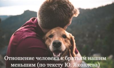 Отношение человека к братьям нашим меньшим (по тексту Ю. Яковлева)